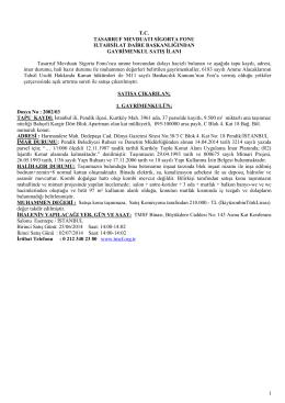 1 T.C. TASARRUF MEVDUATI SİGORTA FONU II.TAHSİLAT DAİRE