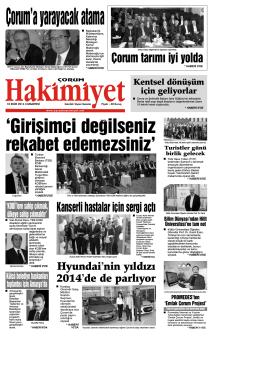 18 ekim.qxd - Çorum Hakimiyet Gazetesi
