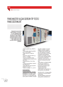 panelmaster alçak gerilim tip testli pano sistemleri