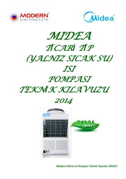 Midea Ticari Tip Isı Pompası Teknik Kılavuz