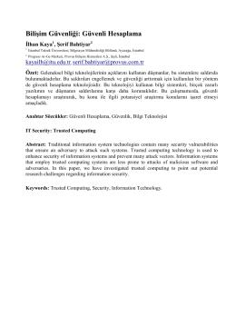 Bilişim Güvenliği: Güvenli Hesaplama