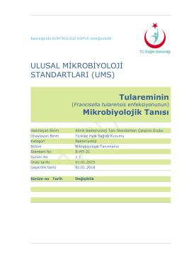 Tularemi - Türkiye Halk Sağlığı Kurumu