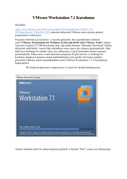VMware Workstation 7.1 Kurulumu
