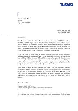 ! ! Prof. Dr. Habip ASAN Başkan Türk Patent Enstitüsü