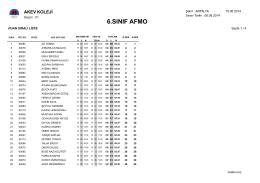 6.Sınıflar 7.AFMO Sınav Sonuçları için tıklayınız.