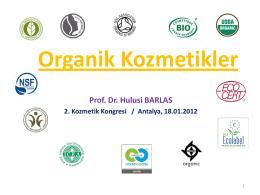 Organik Kozmetikler
