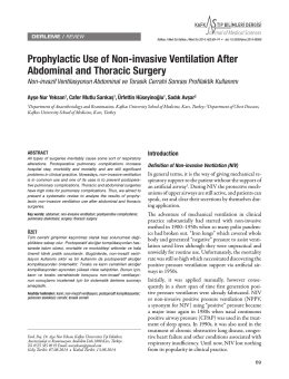 Prophylactic Use of Non-invasive Ventilation After