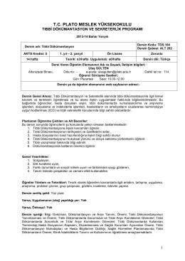 Tıbbi Dokümantasyon - Plato Meslek Yüksekokulu