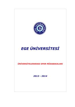 tıklayınız - Ege Üniversitesi