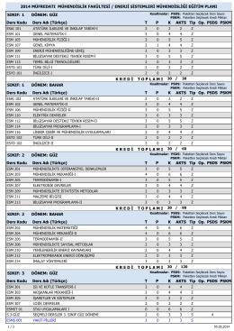 2014 girişliler - Enerji Sistemleri Mühendisliği Bölümü