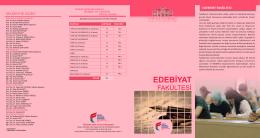 Edebiyat Fakültesi.cdr - Fatih Sultan Mehmet Vakıf Üniversitesi