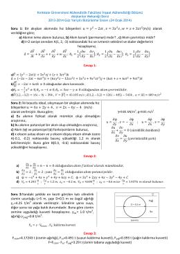 2 , = 3 , = + 3 - İnşaat Mühendisliği Bölümü