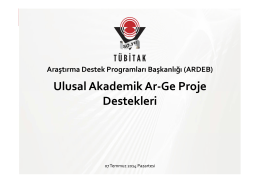 ARDEB Sunumu - Bilkent TTO