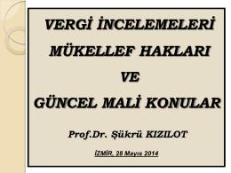 Vergi Müfettişi - İzmir Ticaret Odası