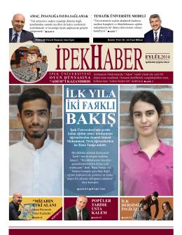 İpekHaber / Eylül 2014