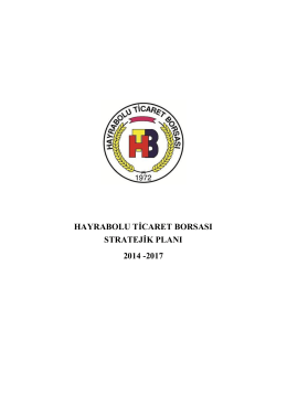 hayrabolu ticaret borsası stratejik planı 2014 -2017