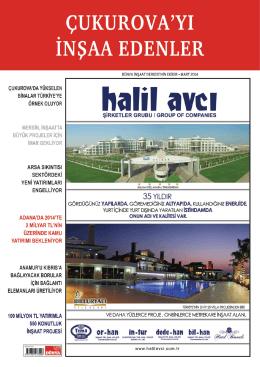 Publication - Dünya İnşaat Dergisi