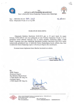 Gündemin 13.Maddesi - Antalya Belediyesi