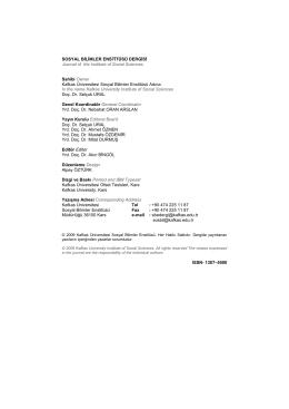 Jenerik Dosyası - Kafkas Üniversitesi