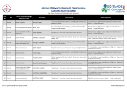 giresun eğitimde iyi örnekler çalıştayı 2014 katılımcı (izleyici) listesi