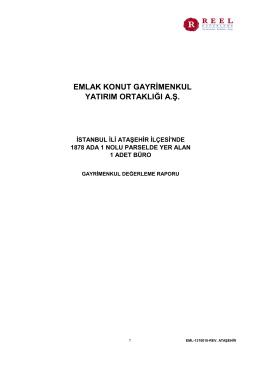 İstanbul İli Ataşehir İlçesi 1 Adet Bağımsız Bölüm