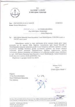 o . t.h - İncesu - Milli Eğitim Bakanlığı