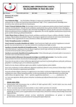 sondalama operasyonu hasta bilgilendirme ve rıza belgesi