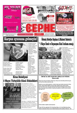 ŞOK !!! - Cephe Gazetesi
