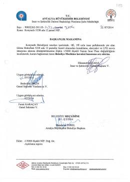 \ 1 1 I - Antalya Belediyesi