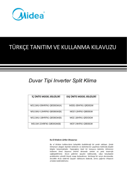 2020001B5311 user manual - Modern Klima Teknolojileri