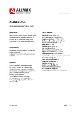 ALLDECO C1 - Allmax Yapı Kimyasalları