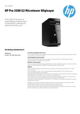 HP Pro 3500 G2 Microtower Bilgisayar