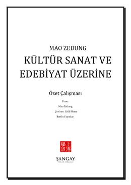 """""""Kültür Sanat ve Edebiyat Üzerine"""" Özet Çalışması için Tıklayınız"""