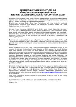 2013 Genel kurul Çağrı Metni için tıklayınız.