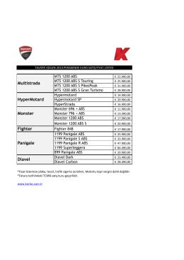 Ducati 2014 yılı motosiklet fiyatları