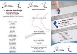 bilimsel program - Ayak ve Ayak Bileği Cerrahisi