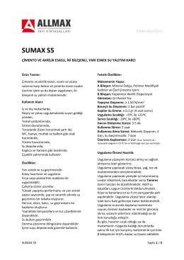 SUMAX S5 - Allmax Yapı Kimyasalları