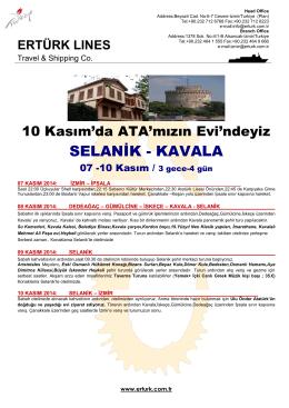 SELANİK - KAVALA - ERTURK Lines Cesme