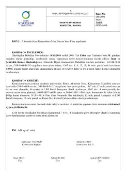 91. komisyon raporu - Ordu Büyükşehir Belediyesi