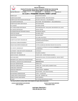 04.12.2014 - Kartal Koşuyolu Yüksek İhtisas Eğitim ve Araştırma
