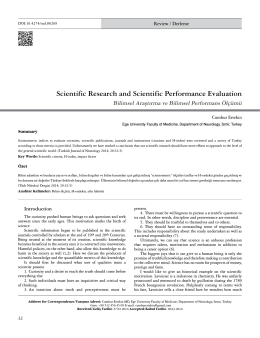 Scientific Research and Scientific Performance