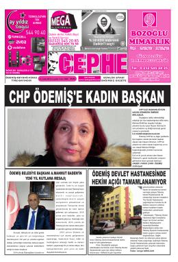 31.12.2014 Tarihli Cephe Gazetesi