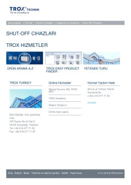 shut-off cıhazları trox hızmetler