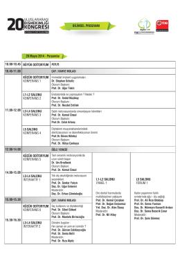1.Gün - 21. Uluslararası Dişhekimliği Kongresi