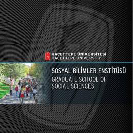 Sosyal Bilimler Enstitüsü Tanitim Katalogu