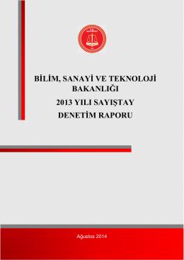 Bilim, Sanayi Ve Teknoloji Bakanlığı