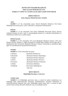Özel Kalem Müdürlüğü - Denizli Belediyesi