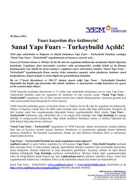 Sanal Yapı Fuarı – Turkeybuild Açıldı!