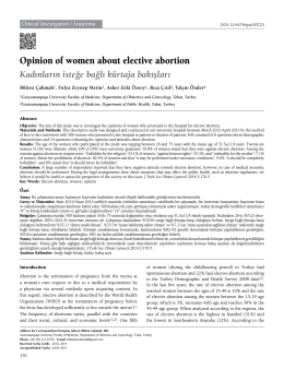 Opinion of women about elective abortion
