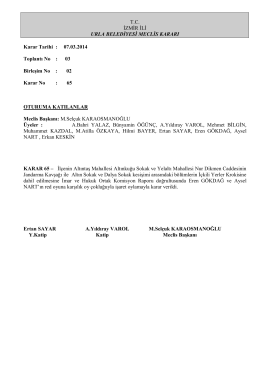 07.03.2014 Meclis Kararı
